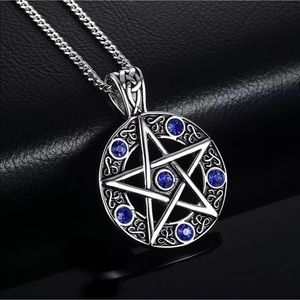 Jewelry - Titanium steel pentagram necklace pendant silver